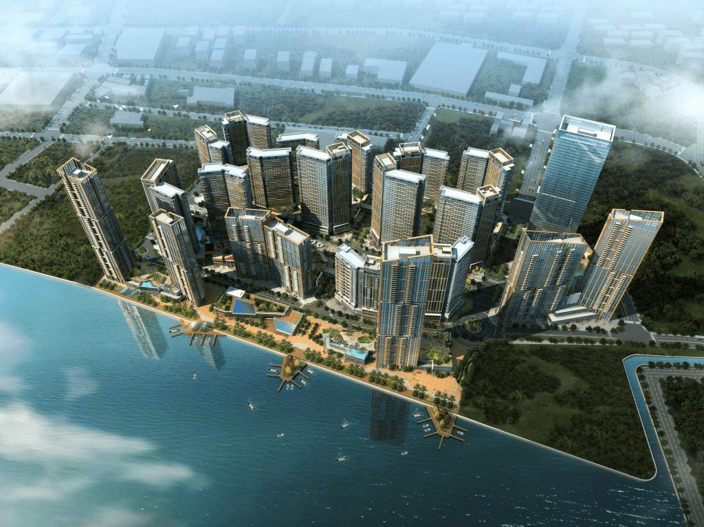 Mandani Bay aerial view