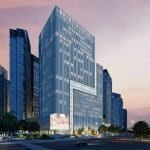 one-mandani-bay-office-space-for-sale-building-night-view-profile